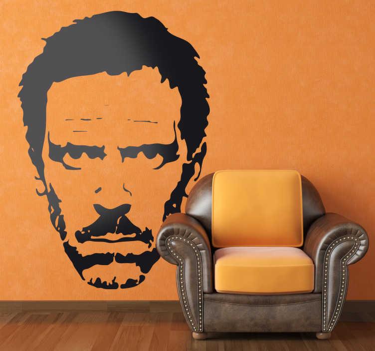 Stencil muro volto House - TenStickers