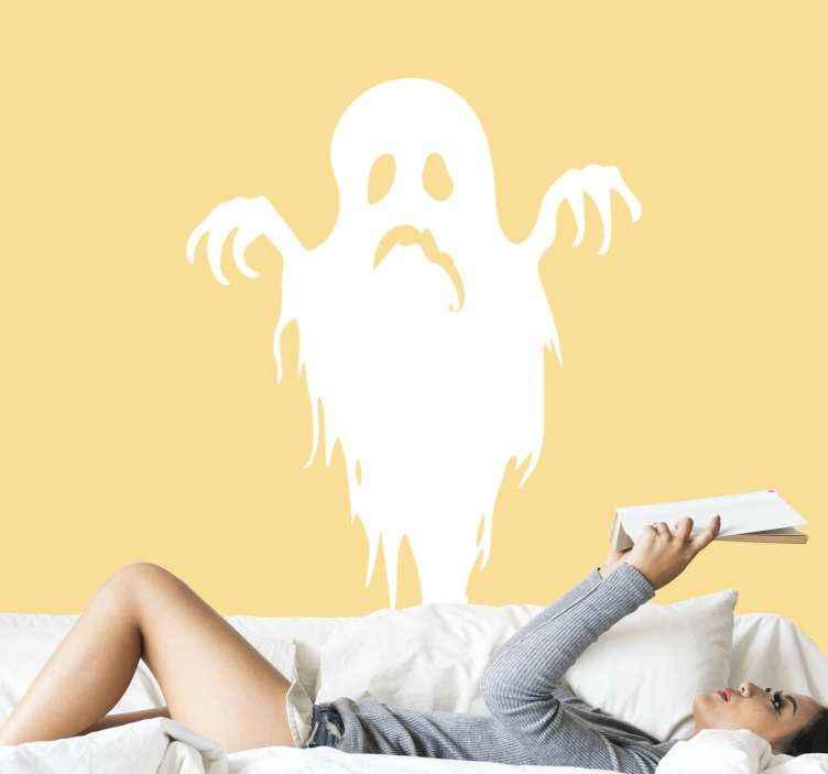 TENSTICKERS. 溶ける幽霊怖いハロウィーンウォールステッカー. ハロウィーンのスペースを飾る恐ろしい怖いデザインをお探しですか?この溶ける怖い幽霊のデザインはあなたの目的に役立ちます。簡単に適用できます。