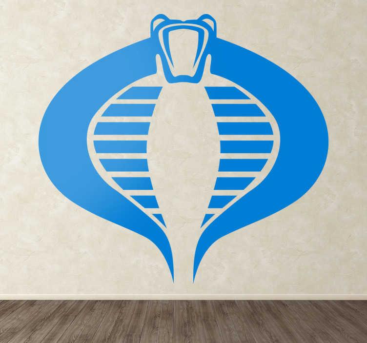 TenVinilo. Vinilo decorativo cobra GI Joe. Logotipo en forma de cobra correspondiente a la famosa línea de figuras de juguete y que tiene sus versiones en cómic y versión cinematográfica.