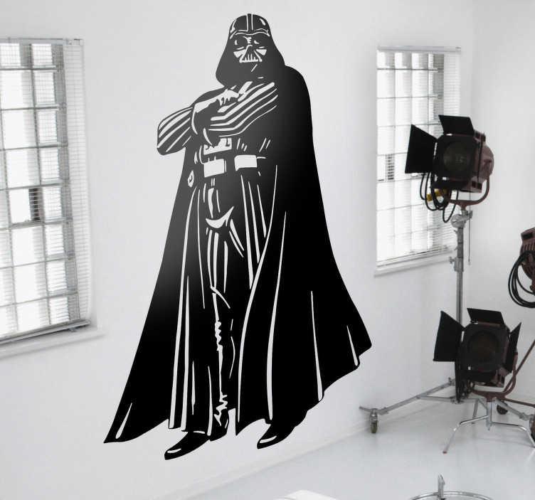 """TenStickers. sticker Star Wars Darth Vader. Muursticker van """"the dark side"""" van Anakin Skywalker, een van de meest interessante personage uit heel Star Wars; Darth Vader."""