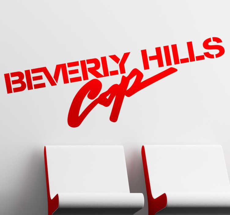 """TenVinilo. Vinilo decorativo detective hollywood. Adhesivo con el logotipo de la famosa saga de películas cómicas de los años 80 """"Superdetective en Hollywood"""". Si te gusta Eddie Murphy consigue este vinilo."""