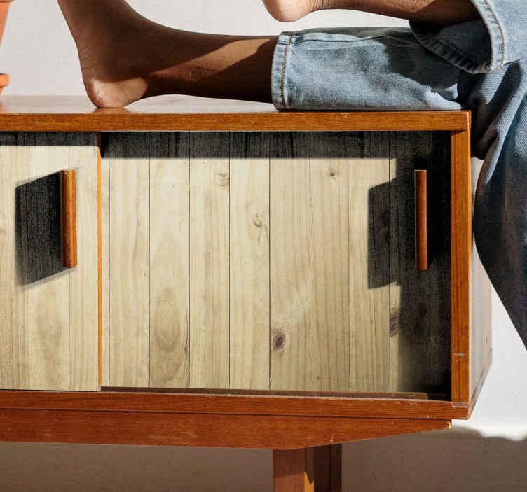 TenStickers. Vinil para móveis Padrão de madeira leve. autocolante de móveis de madeira clara. Um produtopara cobrir a superfície de qualquer móvel para dar-lhe uma aparência nova e transformadora de sua aparência antiga.
