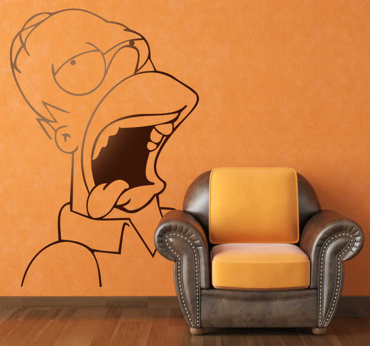 Vinilo decorativo Homer Simpson borracho