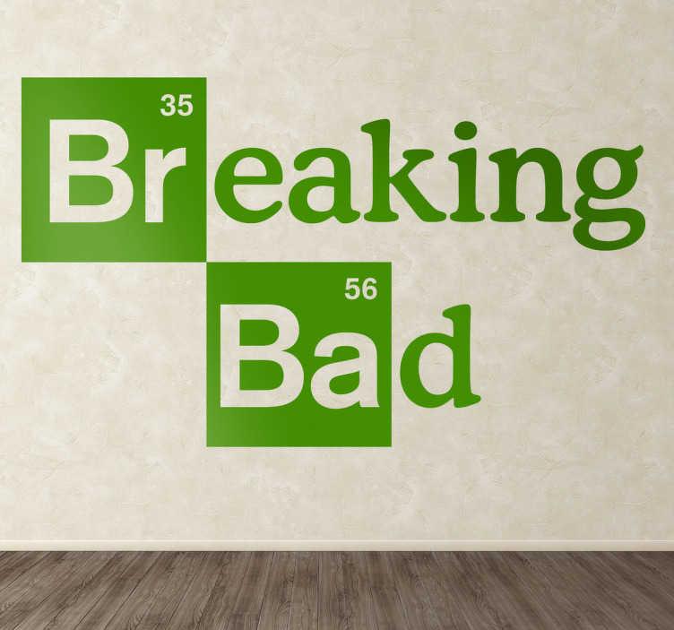 TenStickers. Sticker logo Breaking Bad. Vous ne pouvez pas vous passer de séries et encore moins de Breaking bad ? Personnalisez votre intérieur avec le logo de la série sur sticker.