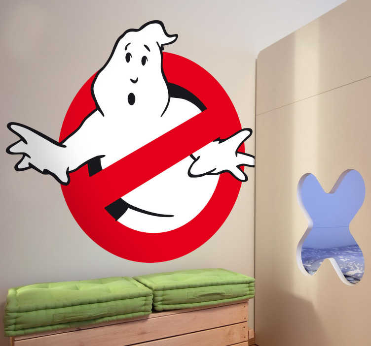TenStickers. Logo sticker Ghostbusters. Who you gonna call? Ghostbusters! Decoreer de kamers met deze Ghostbusters muursticker.