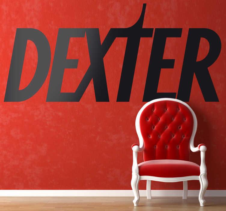 TenStickers. Sticker decorativo logo Dexter. Adesivo murale dedicato ai fan della famosa serie ambientata a Miami, Dexter.