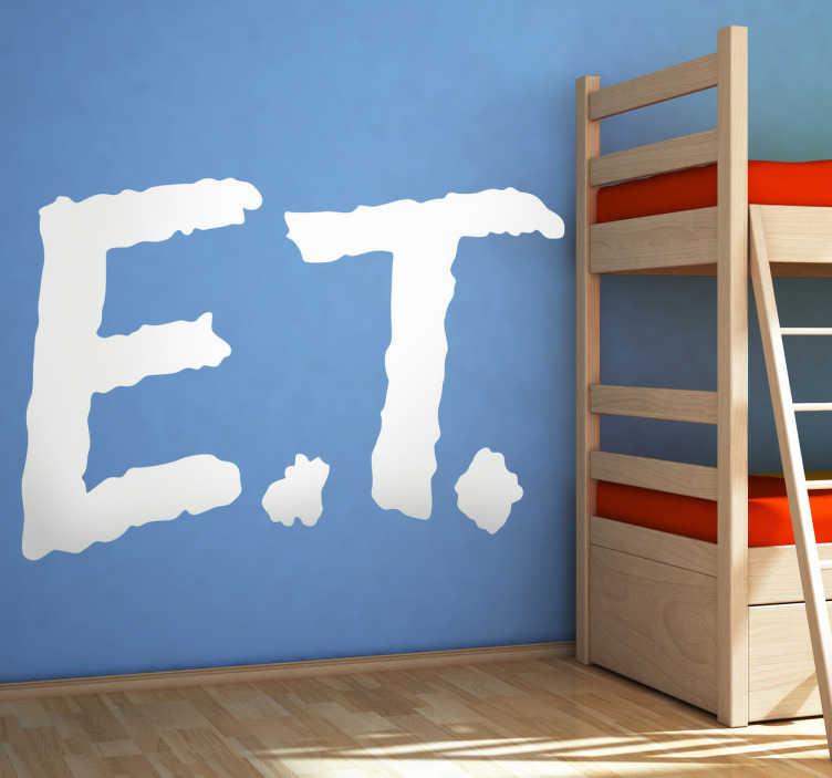 TenVinilo. Vinilo decorativo logo ET. Para los más nostálgicos un vinilo del logotipo del entrañable alienígena que marcó a los niños de los años 80.