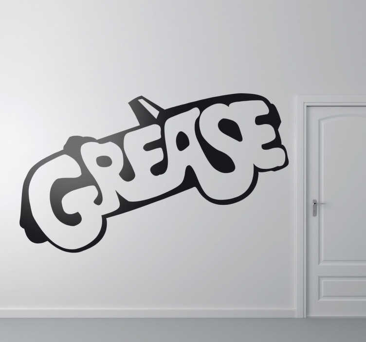 Grease logo movie sticker