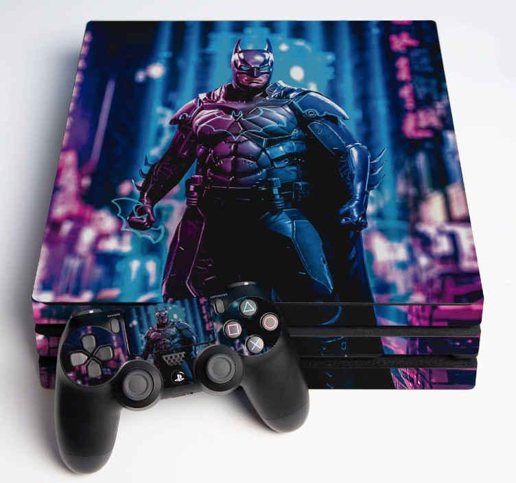 TenVinilo. Vinilo PS4 Batman. Compre este diseño decorativo de skin  para que su hijo envuelva la superficie de la consola o el mando ¡Envío a domicilio!