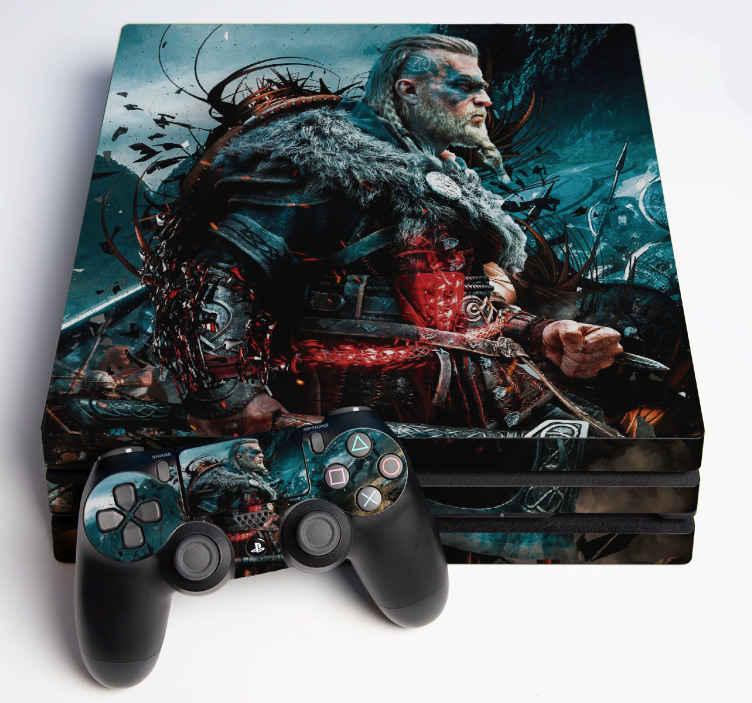 TenVinilo. Vinilo PS4 Assessin's Creed. Haz que tu playstation destaque con  este diseño de vinilo ps4 de assassin creed con efecto visual. Imagen realista ¡Envío a domicilio!