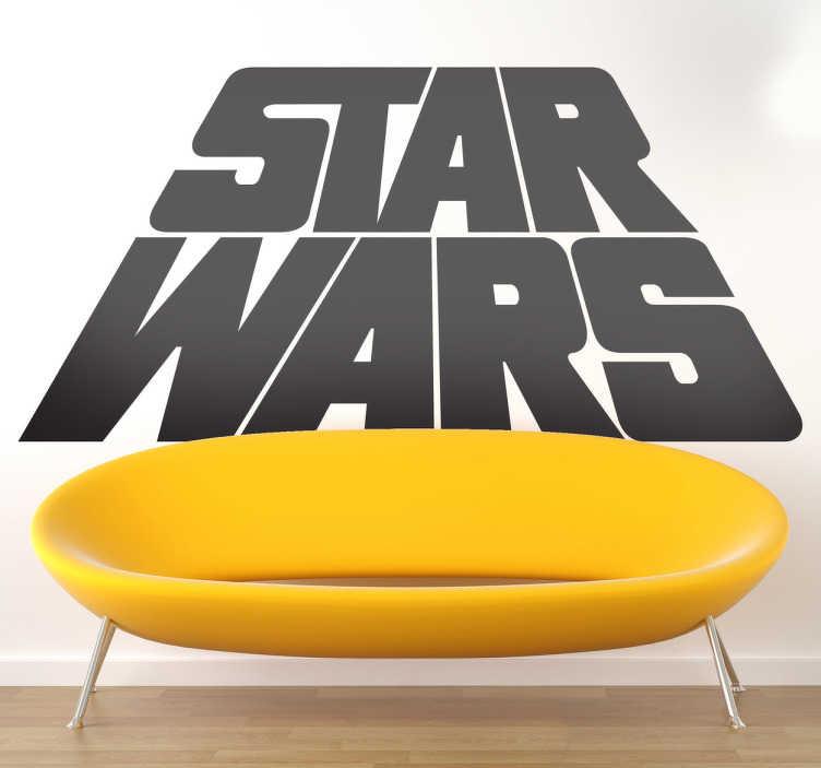 Sticker logo Star Wars perspective