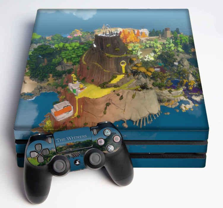 TENSTICKERS. 証人のps4ステッカー. ビデオゲームコンソールを、ウィットネスps4スキンステッカーの現実的でオリジナルのビデオゲームテーマデカールで飾ります。品質の適用が簡単。