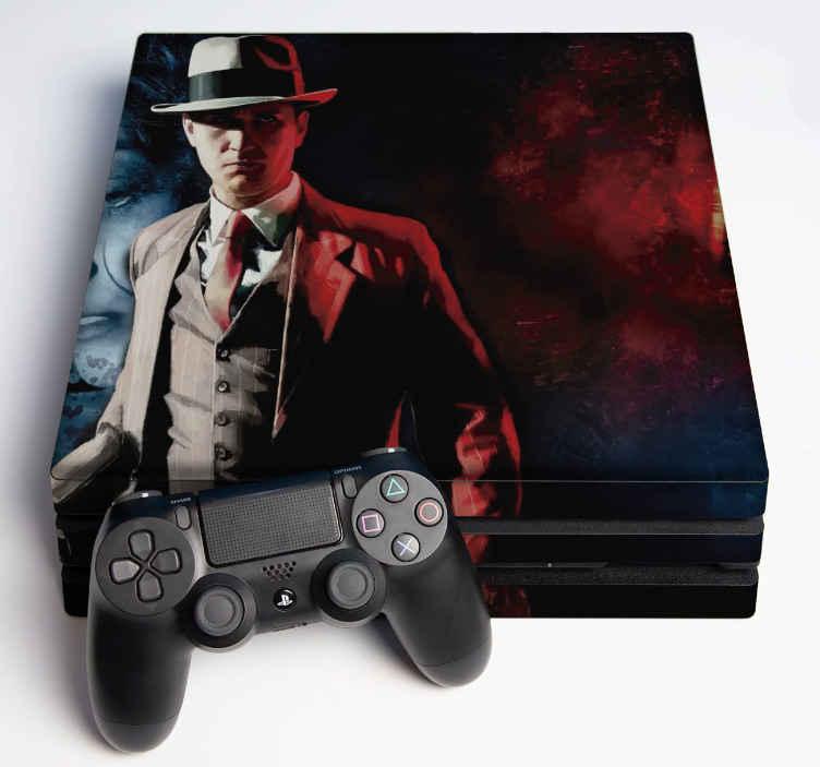 TenVinilo. Vinilo PS4 La noire. Decora tu consola con una apariencia original y visual con nuestro vinilo ps4 La Noire. Fabricado en alta calidad ¡Envío a domicilio!