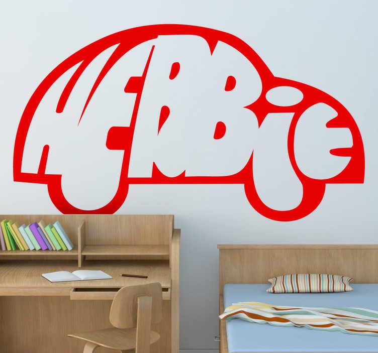 TenVinilo. Vinilo decorativo logo Herbie. Vinilo del personaje de ficción infantil, un Volkswagen con características humanas. Famosa película de finales de los años 60 de la factoría Disney.