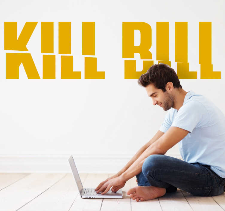 TenVinilo. Vinilo decorativo logo Kill Bill. Adhesivo decorativo de la película de Tarantino protagonizada por Uma Thurman entre otros.