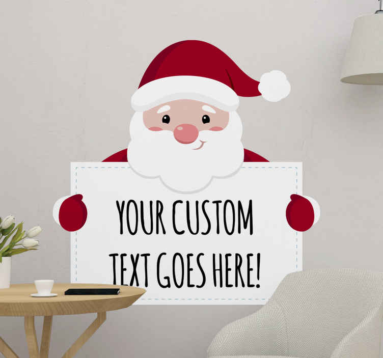 Adesivi Babbo Natale.Adesivo Natalizio Babbo Natale Personalizzato Tenstickers