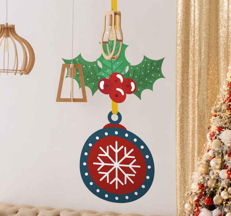 TENSTICKERS. 装飾的なぶら下げクリスマスウォールステッカー. 吊り装飾クリスマス装飾ステッカーデザイン。それはクリスマスのための家、オフィス、公共およびビジネス場所のために装飾的です。