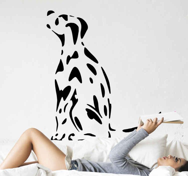 TENSTICKERS. 壁のデカールを探しているむらがある犬. むらがある犬のビニールの壁のストライカー、このデザインは選択した任意の平らな面で装飾的です、それはリビングルーム、寝室、および他のスペースに適用できます。