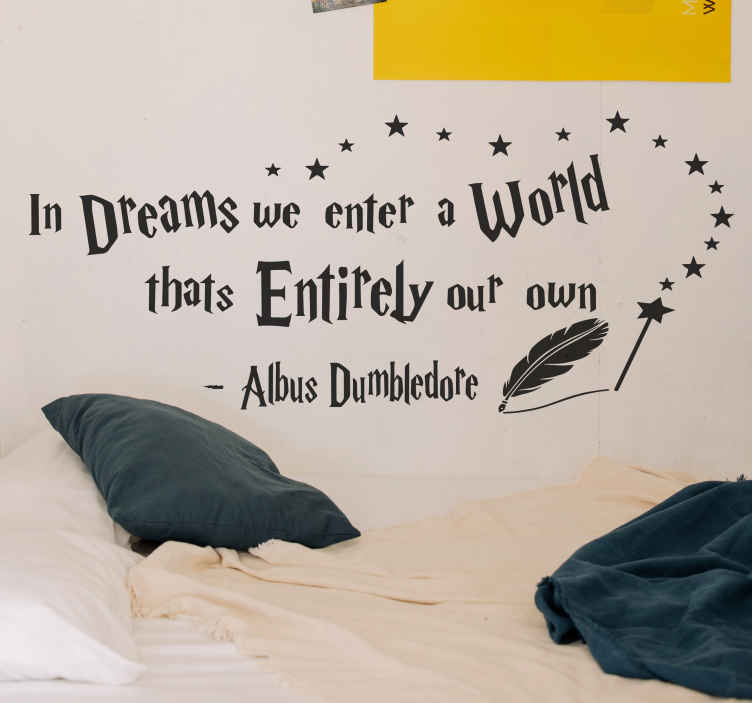 TenStickers. Harry Potter In dreams quote movie quote wall decal. Decorative Harry porter's movie quote sticker for children bedroom decoration, it is decorative on any other space. Available in different sizes.