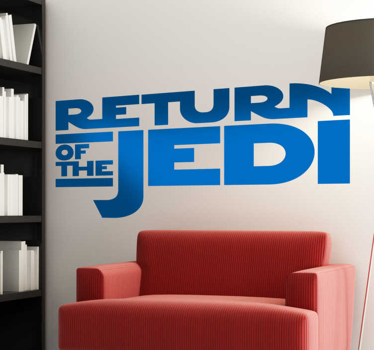 TenVinilo. Vinilo decorativo logo Retorno Jedi. Logotipo de la tercera película de las aventuras de Luke Skywalker, Han Solo, Darth Vader y compañía. Un vinilo para los fans de la obra de George Lucas.