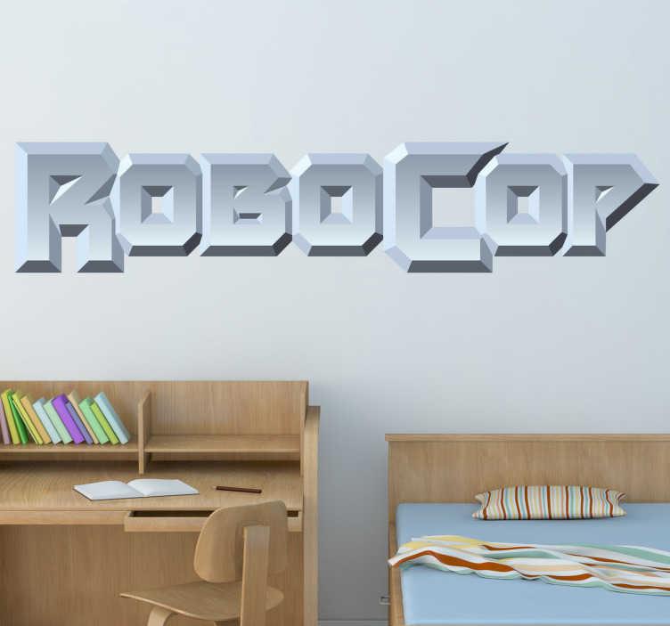 TenVinilo. Vinilo decorativo logo Robocop. Característica tipografía en adhesivo de la película que narra la historia de este peculiar humano medio robot, adalid de la justicia.