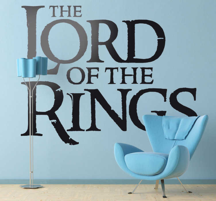 TenStickers. Sticker logo Seigneur des Anneaux. Pour les fans des livres de Tolkien ou de la saga de Peter Jackson, ce sticker logo en anglais de Lord of the Rings est fait pour vous.