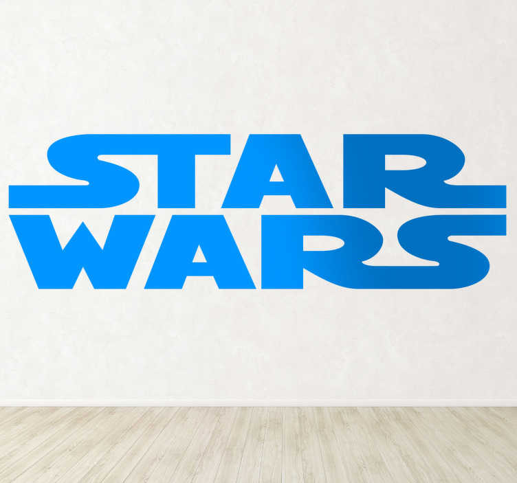 Sticker Tekst Star Wars