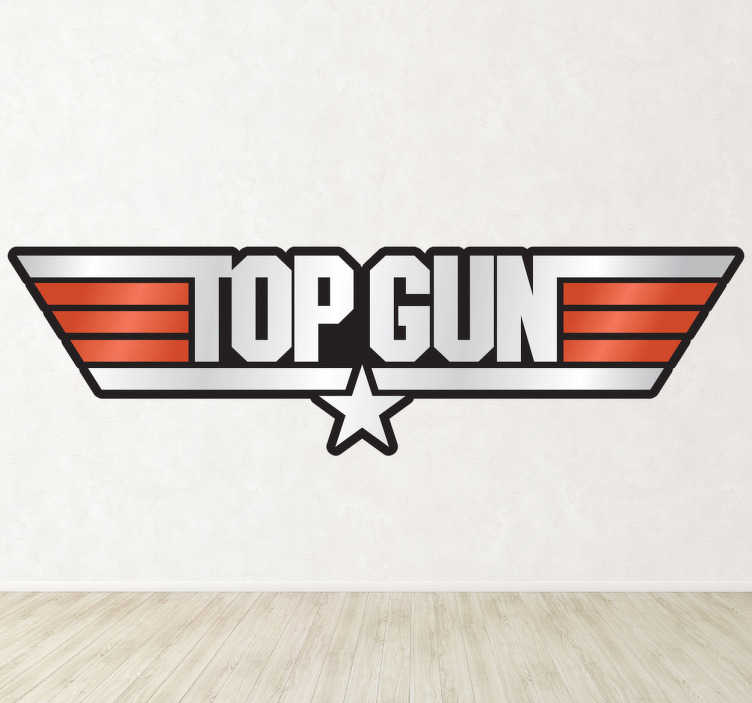 Sticker decorativo logo Top Gun a colori