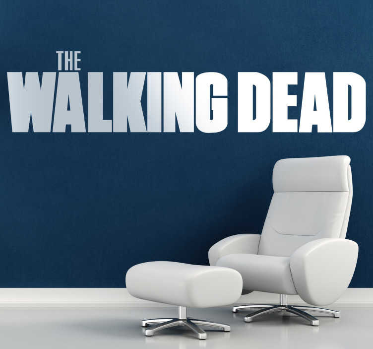 TenStickers. The Walking Dead Logo Sticker. Logo sticker of the famous American TV series that narrates the story of a zombie apocalypse and a group of survivors.