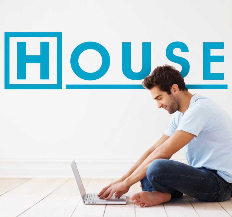 TenVinilo. Vinilo decorativo logotipo House. Adhesivo del logotipo de la famosa serie protagonizada por Hugh Laurie en el papel del doctor Greg House. Para los seguidores del médico cojo.