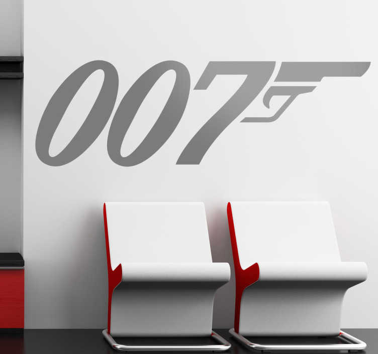 TenStickers. James Bond Logo Aufkleber. Sind Sie ein Fan von den James Bond Filmen? Dann ist dieser Aufkleber genau das Richtige für Sie!