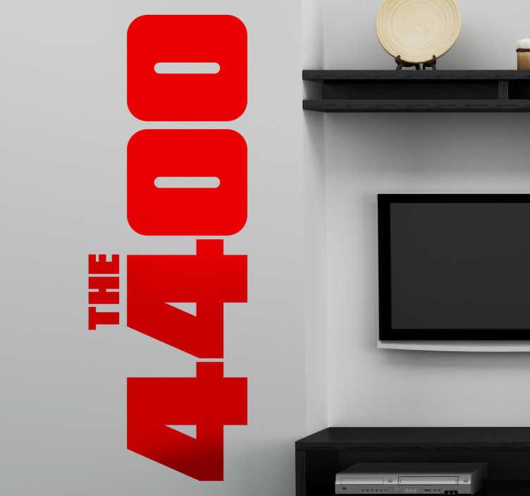 TenStickers. Sticker logo les 4400. Stickers représentant le logo de la série télé américaine créée par Scott Peters.Sélectionnez les dimensions de votre choix pour personnaliser le stickers à votre convenance.