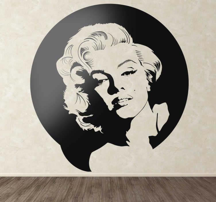 TenStickers. Sticker decorativo Marilyn Monroe. Adesivo della piu' sensuale delle attrici che abbiamo mai protagonizzato il grande schermo.