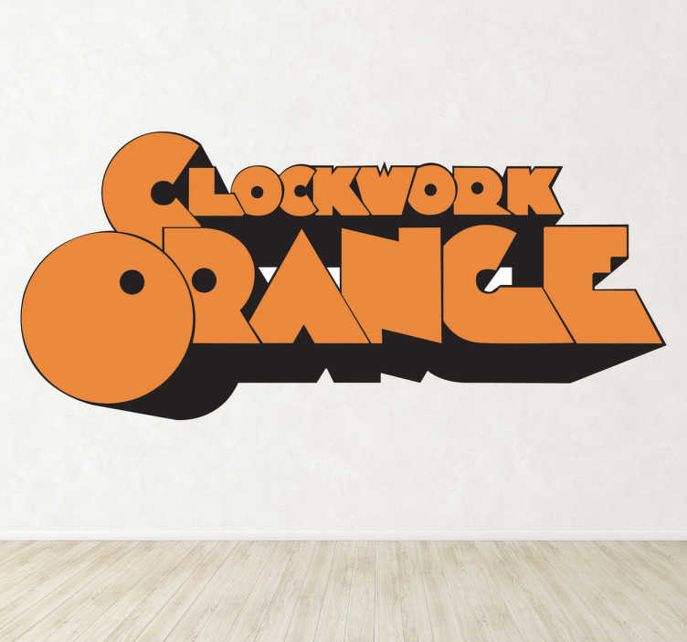 TenStickers. Sticker décoratif Orange Mécanique. Adhésif du film mythique Orange Mécanique réalisé par Stanley Kubrick, première du film datée de 1971.