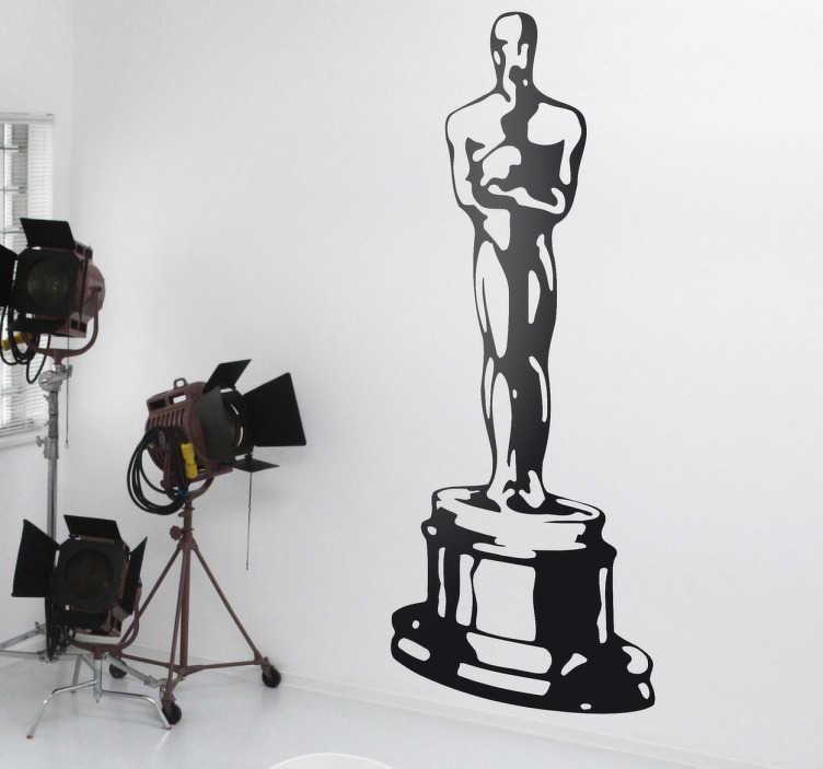 TenVinilo. Vinilo decorativo premio Oscar. Adhesivo del galardón más famoso del cine. Un trofeo con el que decorarás las paredes de tu casa y te sentirás una estrella.