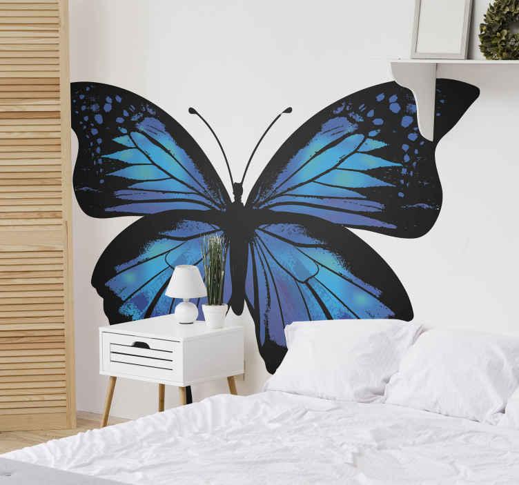 TENSTICKERS. 壁のための美しく、カラフルな蝶のデカール. あなたの家のスペースを飾るために美しく、カラフルな蝶のステッカー。この蝶のステッカーを壁、ドア、家具、窓などに適用できます。