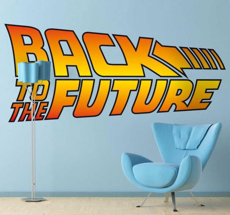 back to the future wall sticker tenstickers. Black Bedroom Furniture Sets. Home Design Ideas