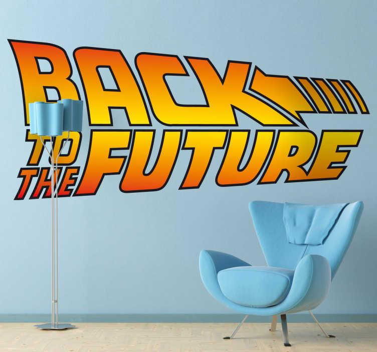 Sticker logo retour vers le futur