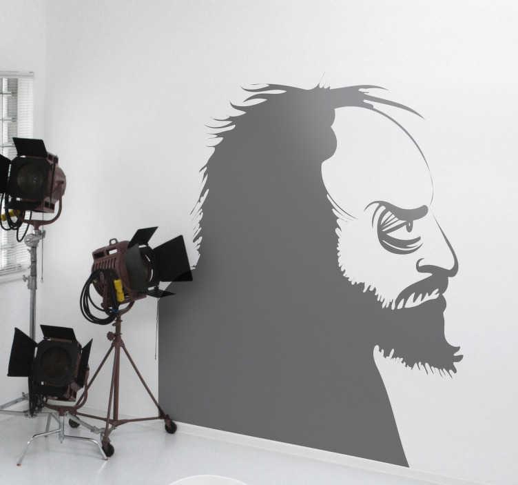 TenStickers. Sticker film Stanley Kubrick. Een leuke muursticker met het zijaanzicht van de beroemde New Yorkse regisseur Stanley Kubrick. Kleur en afmetingen aanpasbaar. Snelle klantenservice.