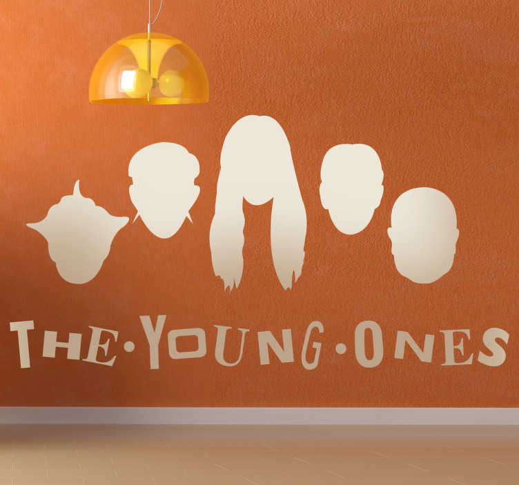 Stencil muro the young ones - TenStickers