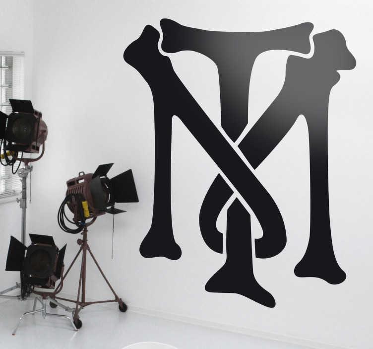 """Naklejka logo """"Człowiek z blizną"""""""