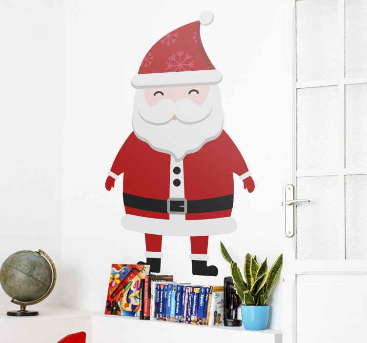 Adesivi Babbo Natale.Adesivo Natalizio Babbo Natale Per I Bambini Tenstickers