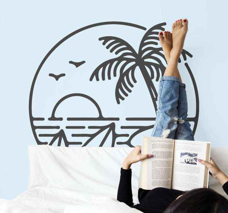 TENSTICKERS. サーフビーチロゴサーフデカール. 装飾的なビーチロゴサーフステッカー。あなたがビーチでサーフィンをするのが好きなら、このデザインはあなたのスペースに飾るのを落ち着かせるでしょう。