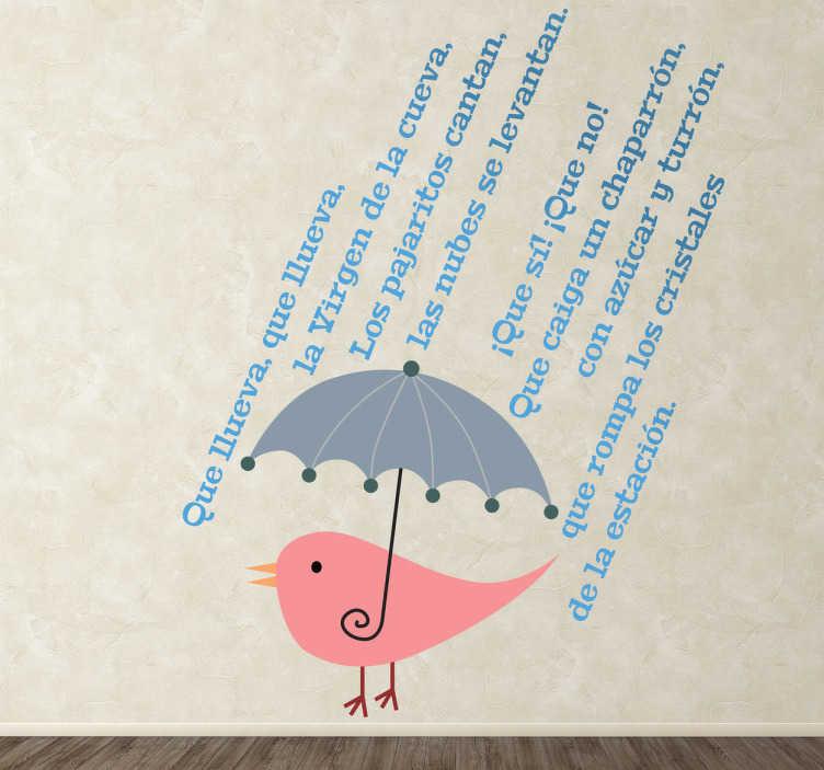 Baño Cancion Infantil:Vinilo infantil que llueva – TenVinilo