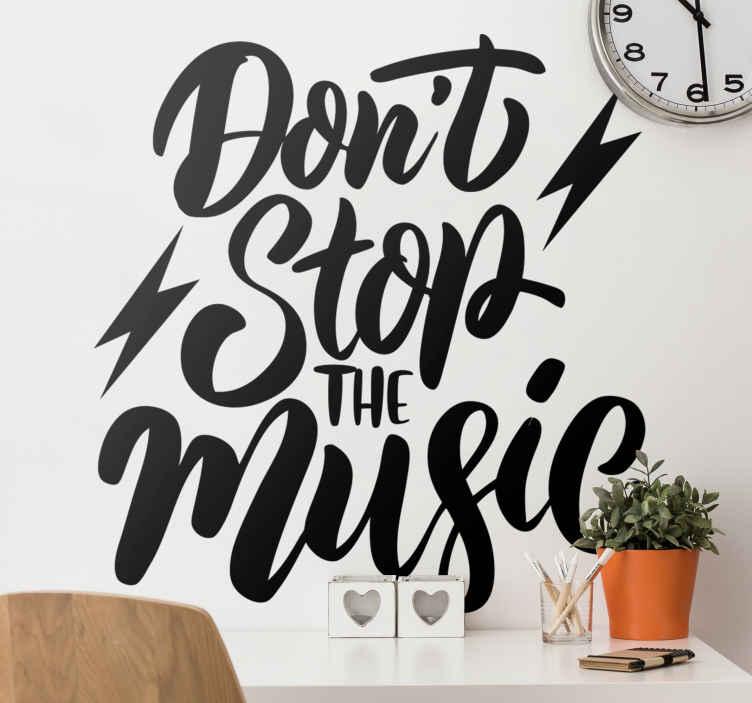 TENSTICKERS. ミュージックロックンロールデカールを止めないで. デザインを見るといつでも歌うことができるロックンロールの音楽テーマデカールで空間を飾ります。オリジナルで簡単に適用できます。