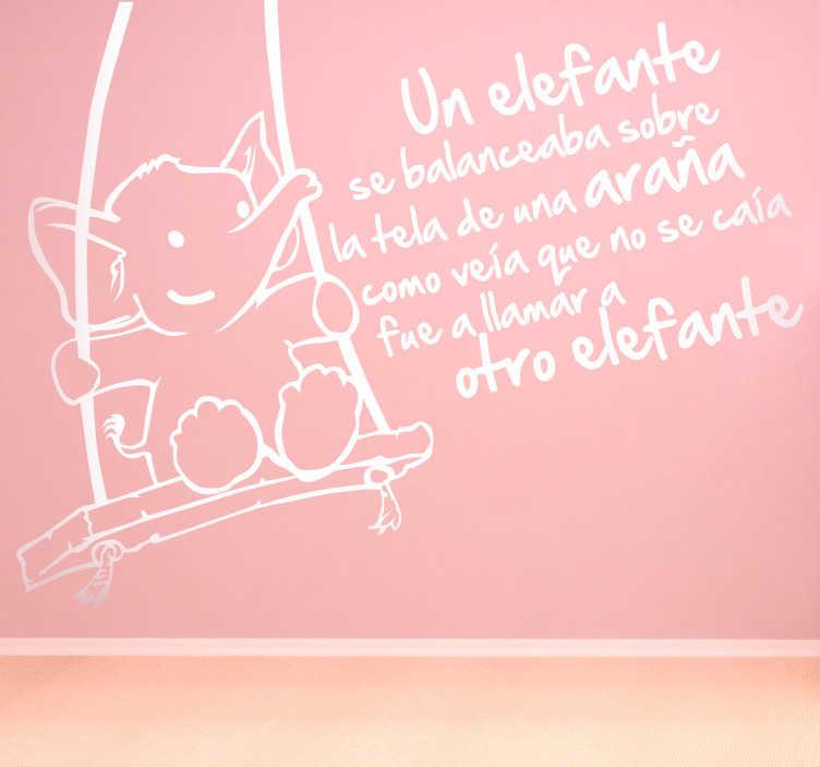 Vinilo infantil canción un elefante