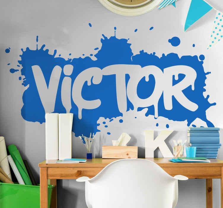 Personalisierter Aufkleber Farbspritzer Graffiti Tenstickers