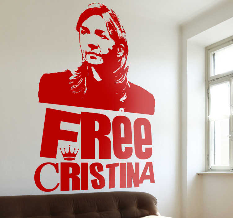 TenStickers. Free Cristina Aufkleber.