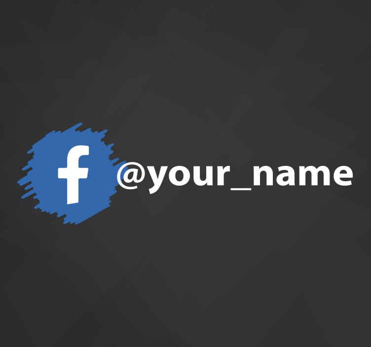 TenVinilo. Pegatina Facebook para escaparates personalizable. Personaliza el nombre de tu empresa en esta pegatina Facebook para escaparates con patrón simple y fácil de ver. Elige tamaño ¡Compra online!