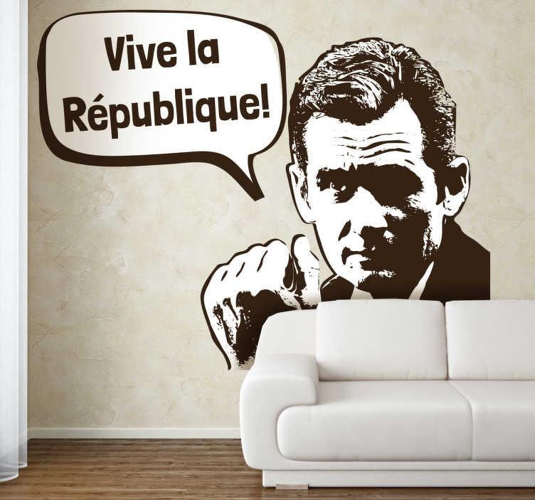 TenVinilo. Vinilo decorativo Urdangarín. Nadie ha hecho tanto por la reinstaurar la República como el bueno de Iñaki. De jugador de balonmano a revolucionario antimonárquico. Un vinilo actual y de humor para tu casa.